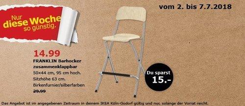 IKEA FRANKLIN Barhocker - jetzt 50% billiger