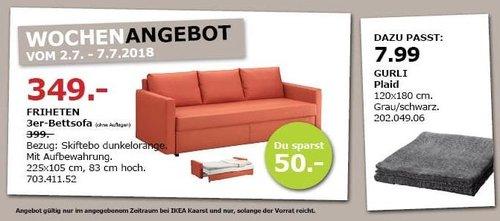IKEA FRIHETEN 3er-Bettsofa - jetzt 13% billiger