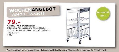 IKEA GRUNDTAL Servierwagen - jetzt 39% billiger