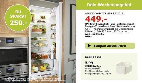 IKEA HÄFTIGT Einbaukühl- und -gefrierschrank - jetzt 36% billiger