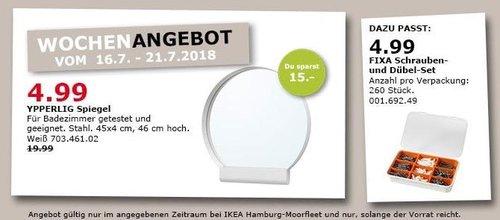 IKEA Hamburg-Moorfleet  YPPERLIG Spiegel - jetzt 75% billiger