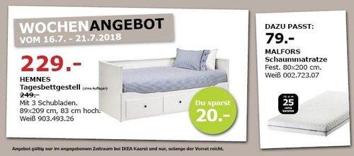 IKEA Kaarst HEMNES Tagesbettgestell mit 3 Schubladen - jetzt 8% billiger