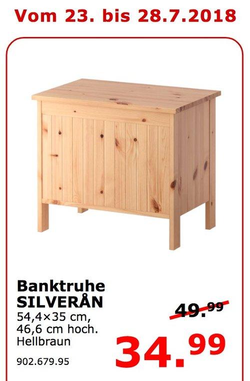 IKEA Koblenz SILVERAN Banktruhe - jetzt 30% billiger