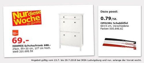 ikea ludwigsburg hemnes schuhschrank f r 69 00 37. Black Bedroom Furniture Sets. Home Design Ideas