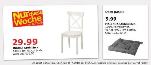 IKEA Ludwigsburg INGOLF Stuhl - jetzt 49% billiger