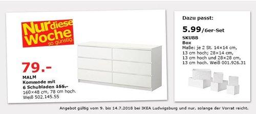 IKEA Ludwigsburg: MALM Kommode mit 6 Schubladen - jetzt 49% billiger