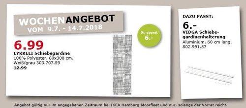 IKEA LYKKELI Schiebegardine - jetzt 46% billiger