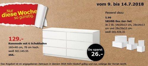 IKEA MALM Kommode mit 6 Schubladen - jetzt 17% billiger