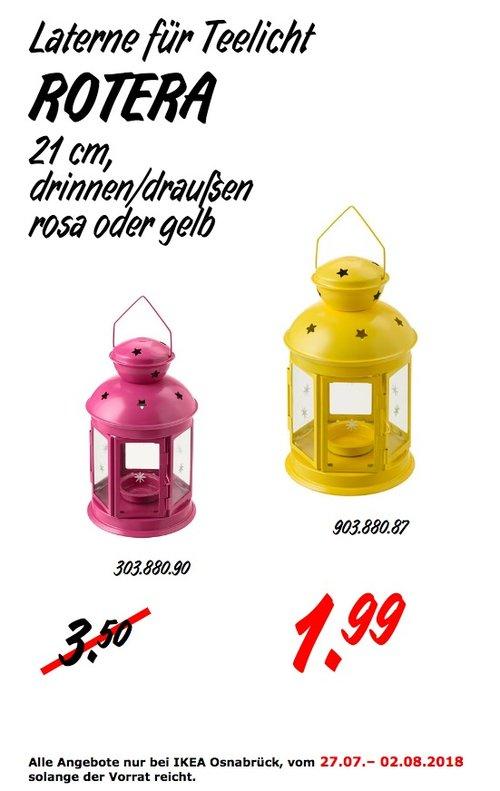 IKEA Osnabrück ROTERA Laterne für Teelicht - jetzt 43% billiger