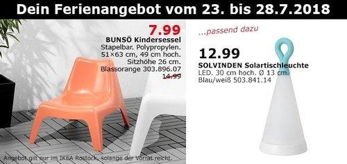 IKEA Rostock  BUNSÖ Kindersessel - jetzt 47% billiger