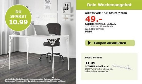 IKEA Sindelfingen FALKHÖJDEN Schreibtisch - jetzt 18% billiger
