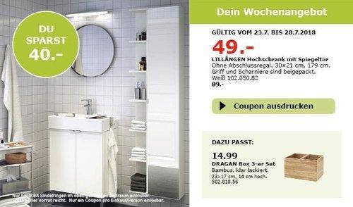 IKEA Sindelfingen LILLANGEN Hochschrank mit Spiegeltür - jetzt 45% billiger
