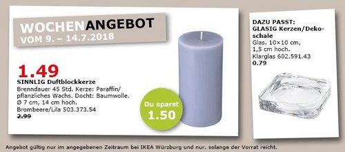 IKEA SINNLIG Duftblockkerze - jetzt 50% billiger