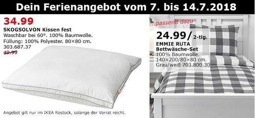 IKEA SKOGSOLVON Kissen fest - jetzt 30% billiger