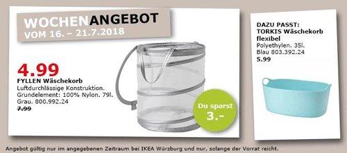 IKEA Würzburg FYLLEN Wäschekorb - jetzt 38% billiger