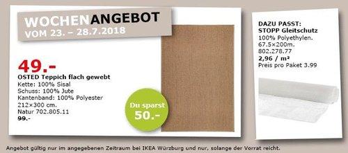 IKEA Würzburg OSTED Teppich flach gewebt, 212x300 cm - jetzt 51% billiger