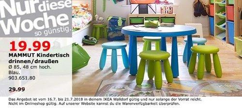 IKEA Walldorf  MAMMUT Kindertisch - jetzt 33% billiger