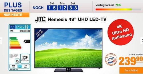 """JTC Nemesis 49"""" UHD LED-TV  DVB-T2/C/S2 - jetzt 14% billiger"""