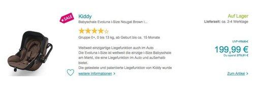 Kiddy Babyschale Evoluna i-Size Nougat Brown inklusive Isofix Base 2 - jetzt 23% billiger