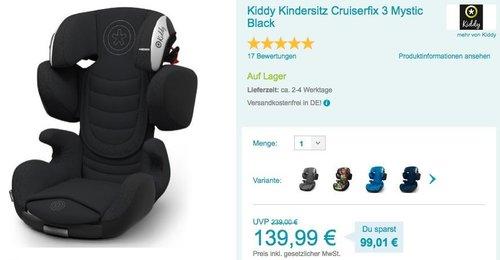 Kiddy Kindersitz Cruiserfix 3 - jetzt 36% billiger