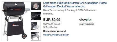 Landmann Holzkohlegrillwagen Taurus Expert - jetzt 14% billiger