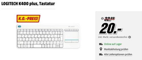 LOGITECH K400 plus Tastatur weiß - jetzt 38% billiger