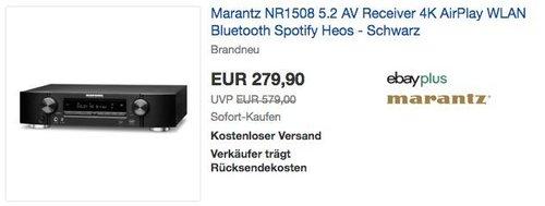 Marantz NR1508 5.2 AV Receiver schwarz - jetzt 6% billiger