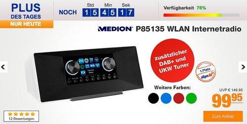 MEDION® LIFE® P85135 DAB+ & FM/UKW WLAN Internet-Radio - jetzt 15% billiger