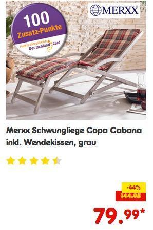 Merxx Schwungliege Copa Cabana inkl. Wendekissen - jetzt 10% billiger