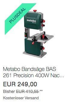 Metabo Bandsäge BAS 261 Precision - jetzt 10% billiger
