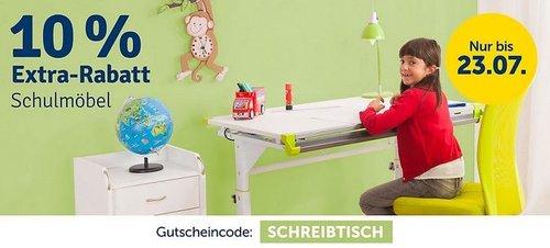 myToys 10 % Rabatt auf Schulmöbel: z.B. TOPSTARSchreibtisch Sitness Desk - jetzt 10% billiger