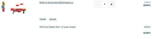 NERF N-Strike Elite MEGA RotoFury - jetzt 14% billiger