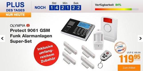 OLYMPIA Protect 9061 GSM Funk Alarmanlagen Super-Set mit Außensirene - jetzt 14% billiger