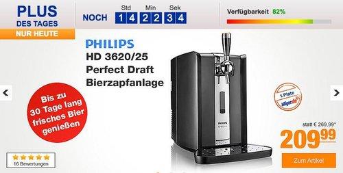 Philips HD 3620/25 Perfect Draft Bierzapfanlage - jetzt 6% billiger