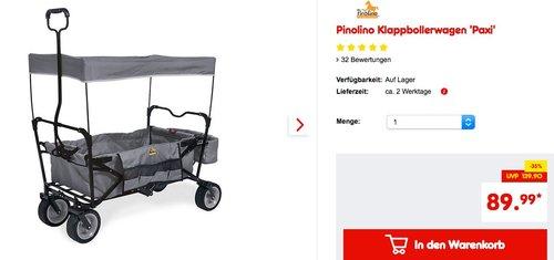 Pinolino Klappbollerwagen Paxi, grau - jetzt 10% billiger