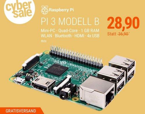 Raspberry Pi 3 Modell B 1 GB - jetzt 10% billiger