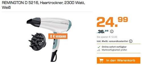 REMINGTON D 5216 Haartrockner weiß - jetzt 14% billiger