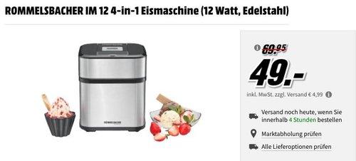 ROMMELSBACHER IM 12 4-in-1 Eismaschine - jetzt 22% billiger