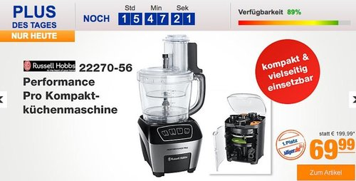 Russell Hobbs 22270-56 Performance Pro Kompaktküchenmaschine - jetzt 12% billiger