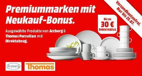 Saturn Arzberg & Thomas Porzellan -- Aktion: z.B. Thomas Porzellanservice Serie Vario 30 teilig - jetzt 17% billiger