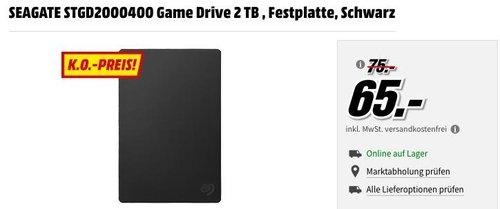 SEAGATE Game Drive 2 TB PS4 - jetzt 13% billiger