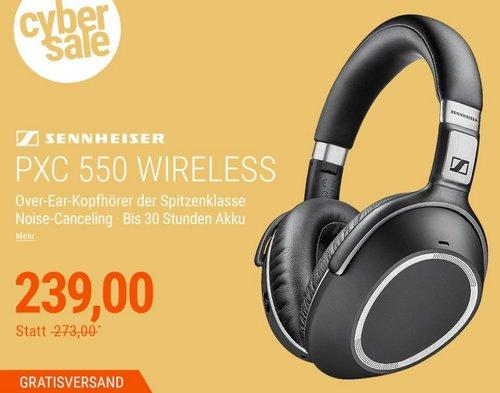Sennheiser PXC 550 Wireless Over-Ear Bluetooth-Kopfhörer mit Noise-Canceling - jetzt 12% billiger