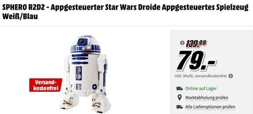 SPHERO R2D2 - Appgesteuerter Star Wars Droide Appgesteuertes Spielzeug - jetzt 9% billiger