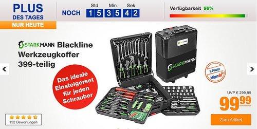 Starkmann Blackline Werkzeugkoffer-Set 399-tlg. - jetzt 26% billiger