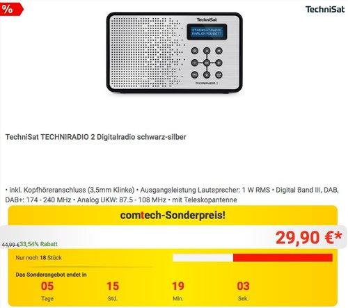 TechniSat TECHNIRADIO 2 Digitalradio schwarz-silber - jetzt 14% billiger