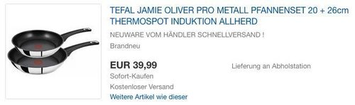 Tefal Jamie Oliver Pfannen-Set 20cm und 26cm - jetzt 27% billiger