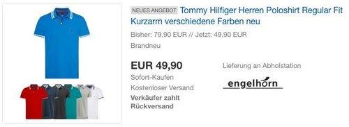 Tommy Hilfiger Herren Poloshirt Regular Fit - jetzt 29% billiger
