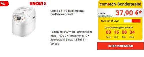 Unold 68110 Backmeister Brotbackautomat - jetzt 39% billiger