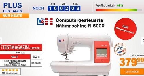 W6 Nähmaschine N 5000 mit 323 Programmen - jetzt 13% billiger