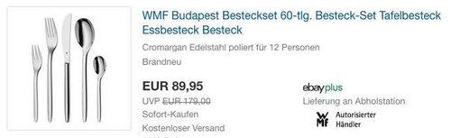 WMF Budapest Besteckset 60-tlg - jetzt 14% billiger